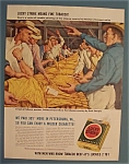 Click here to enlarge image and see more about item 10927: Vintage Ad: 1942 Lucky Strike Cigarettes by Paul Sample