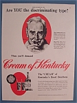 1942 Cream of Kentucky w/Man & Glass by Norman Rockwell