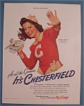 Click here to enlarge image and see more about item 10950: Vintage Ad: 1941 Chesterfield with Angela Cummins