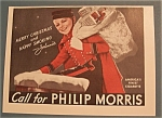 Click here to enlarge image and see more about item 10954: Vintage Ad: 1939 Philip Morris with Johnnie