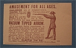 Click here to enlarge image and see more about item 10955: Vintage Ad: 1888 Vacuum TIpped Arrow
