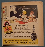 Click here to enlarge image and see more about item 10971: Vintage Ad: 1938 AC Spark Plugs