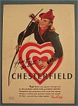 Click here to enlarge image and see more about item 10997: Vintage Ad: 1941 Chesterfield Cigarettes
