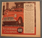 Click here to enlarge image and see more about item 10999: Vintage Ad: 1940 Studebaker Champion