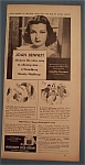 Vintage Ad: 1940 Woodbury Cold Cream with Joan Bennett