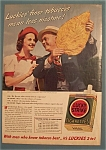 1940 Lucky Strike Cigarettes with Man & Woman