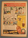 Click here to enlarge image and see more about item 11016: Vintage Ad: 1937 Calvert's Old Drum Whiskey