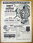 1949 Castle Film with Abbott & Costello-Fun On The Run