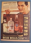 Click here to enlarge image and see more about item 11030: Vintage Ad:1937 Dixie Belle Gin w/ Cassia from China