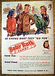 Vintage Ad: 1950 Curtiss Baby Ruth Candy Bar