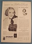 Vintage Ad: 1935 Duart Pads with Glenda Farrell
