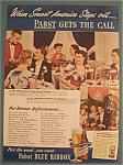 Click here to enlarge image and see more about item 11074: Vintage Ad: 1939 Pabst Blue Ribbon Beer