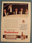 Click here to enlarge image and see more about item 11078: Vintage Ad: 1940 Budweiser Beer