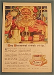 Click here to enlarge image and see more about item 11080: Vintage Ad: 1940 Coffee with Santa Claus