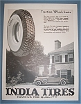 Click here to enlarge image and see more about item 11084: Vintage Ad:1930 India Tires
