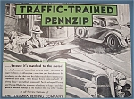 Click here to enlarge image and see more about item 11089: Vintage Ad:1934 Pennzip/Pennzip Ethyl