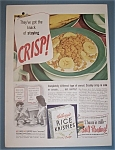 Click here to enlarge image and see more about item 11091: Vintage Ad: 1939 Kellogg's Rice Krispies Cereal