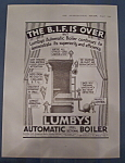 Click here to enlarge image and see more about item 11100: Vintage Ad: 1935 Lumby's Automatic Boiler