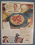 Vintage Ad: 1936 Quaker Puffed Wheat w/ Bing Crosby