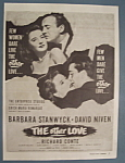 Vintage Ad: 1947 Movie Ad For The Other Love