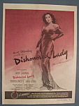Vintage Ad: 1947 Movie Ad For Dishonored Lady
