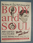 Vintage Ad: 1947 Movie Ad For Body And Soul