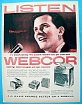 Click to view larger image of Vintage Ad: 1957 Webcor Fonografs with Pat Boone (Image1)