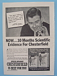 Click here to enlarge image and see more about item 11190: Vintage Ad:1953 Chesterfield Cigarette w/Arthur Godfrey