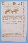 Click here to enlarge image and see more about item 11203: Vintage Ad: 1895 American Burner Co.