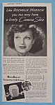 Vintage Ad: 1938 Woodbury Cold Cream w/ Rochelle Hudson