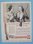 1946 Winchester Rifles with Two Women Talking