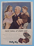 Click here to enlarge image and see more about item 11243: 1948 Milky Way Candy Bar with Children on Grandpa's Lap