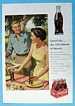 1953 Coca Cola (Coke) with Woman Setting Picnic Table