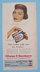 Vintage Ad: 1957 Chase & Sanborn Coffee w/ Donna Reed