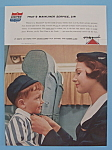 Click here to enlarge image and see more about item 11265: Vintage Ad: 1958 United Air Lines