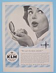 Click here to enlarge image and see more about item 11269: Vintage Ad: 1958 KLM Royal Dutch Airlines