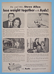 Vintage Ad:1957 Ayds Reducing Plan w/Mr & Mrs. Allen