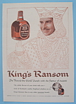 Click here to enlarge image and see more about item 11272: Vintage Ad: 1958 King's Ransom Scotch Whiskey