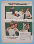 1957 RCA Whirlpool Washer & Tide Detergent w/Man & Box