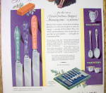 Click to view larger image of 1928 Community Plate with Jeweled Handled Knives (Image2)