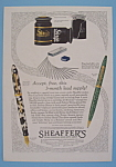Click here to enlarge image and see more about item 11308: Vintage Ad: 1930 Sheaffer's Pens