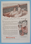 Vintage Ad: 1930 Williams Shaving Cream
