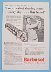 Click here to enlarge image and see more about item 11320: Vintage Ad: 1930 Barbasol with Craig Wood