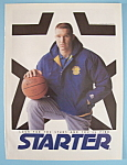 Click here to enlarge image and see more about item 11361: Vintage Ad: 1992 Starter Jackets w/ Chris Mullin