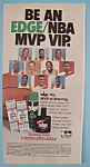 Click here to enlarge image and see more about item 11369: Vintage Ad: 1990 Edge Gel w/ Jordan, Bird & More