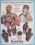 Click here to enlarge image and see more about item 11377: Vintage Ad: 1988 Armitron Watch w/Jackson & Carter