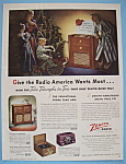 Click here to enlarge image and see more about item 11405: Vintage Ad: 1947 Zenith Radio