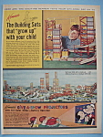 Click here to enlarge image and see more about item 11410: Vintage Ad: 1962 Kenner Building Sets & Projectors