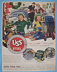Click here to enlarge image and see more about item 11424: Vintage Ad: 1947 United States Steel