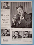 Click here to enlarge image and see more about item 11454: Vintage Ad:1958 Ronson Electric Shaver w/Arthur Godfrey